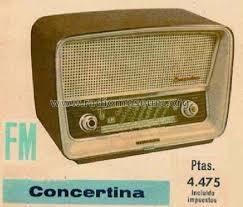 Concertina FM A-1957-FM Radio Telefunken Radiotécnica Ibéric